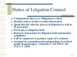 duties of litigation counsel