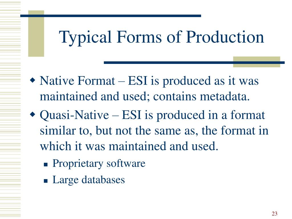 Typical Forms of Production