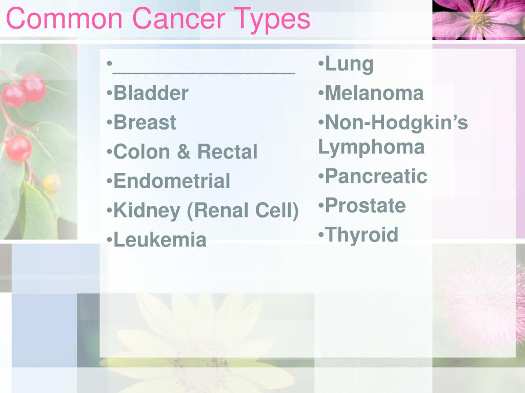 Common Cancer Types