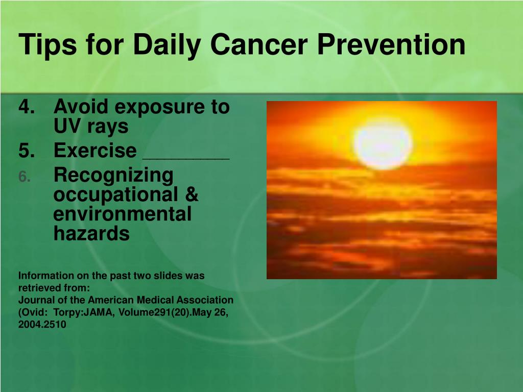 Tips for Daily Cancer Prevention
