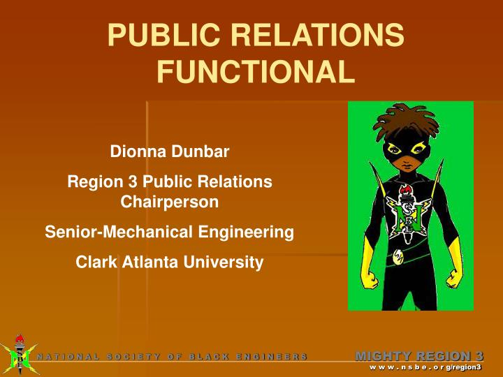 Public relations functional