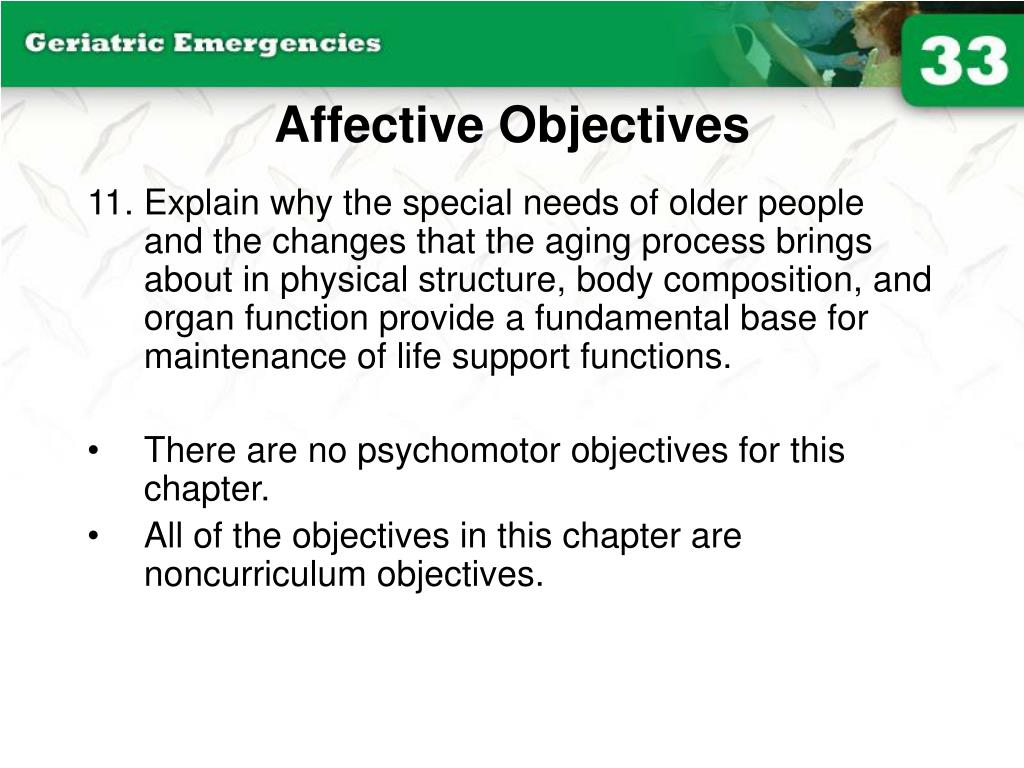 Affective Objectives