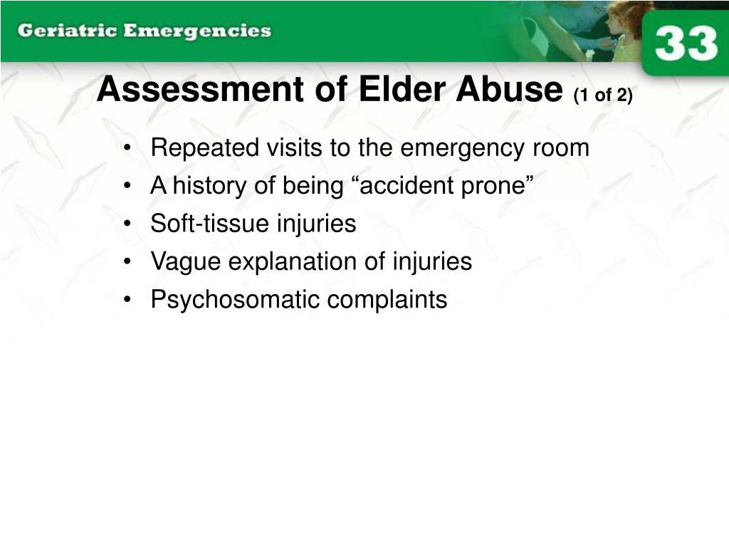 Assessment of Elder Abuse