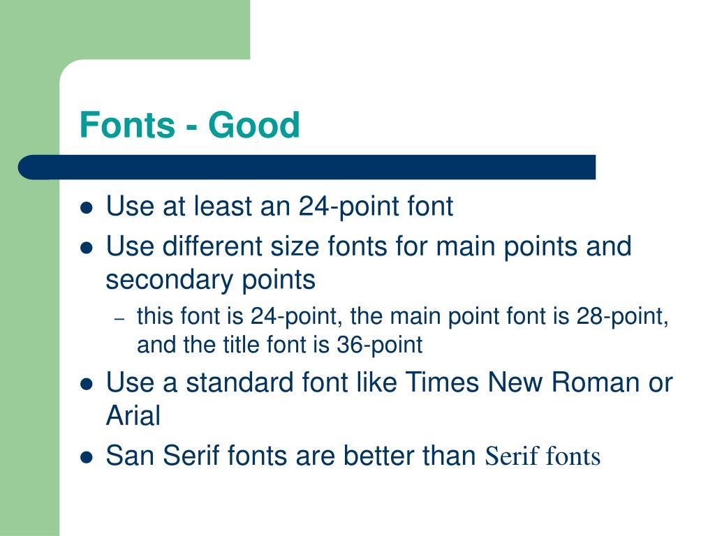 Fonts - Good