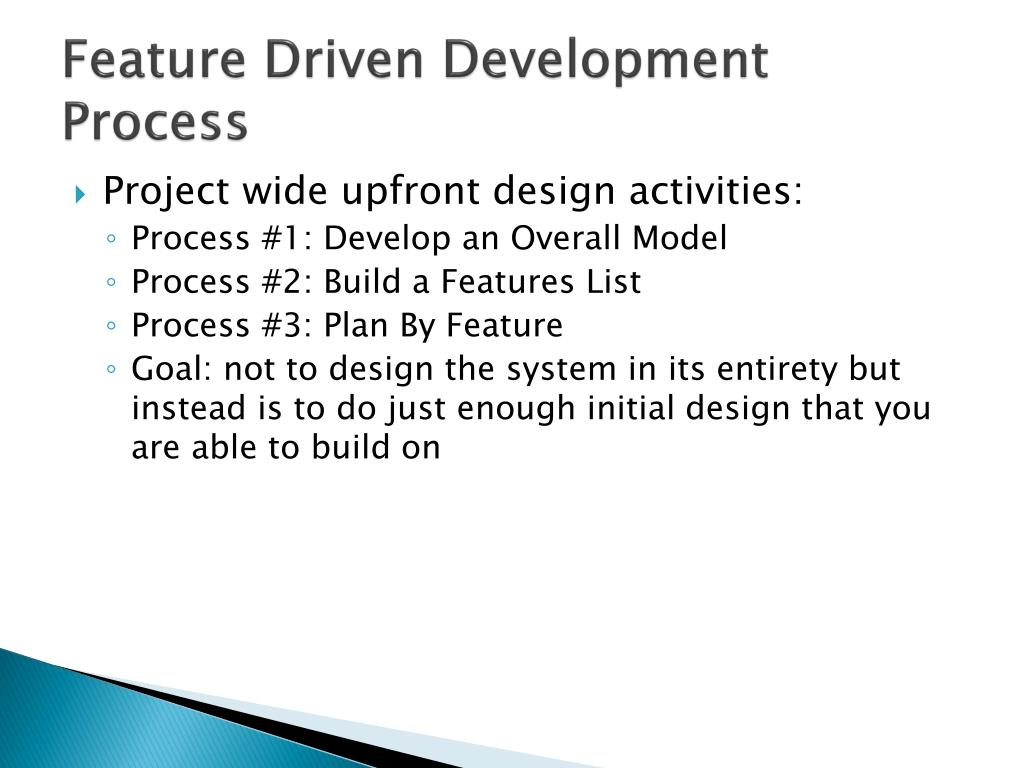 Feature Driven Development Process