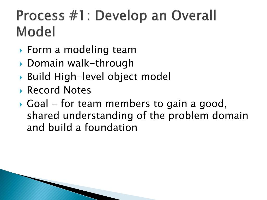 Process #1: Develop an Overall Model
