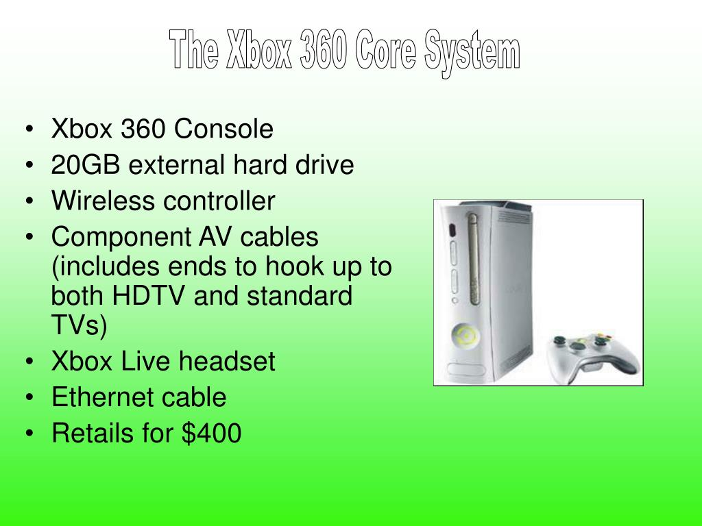 The Xbox 360 Core System
