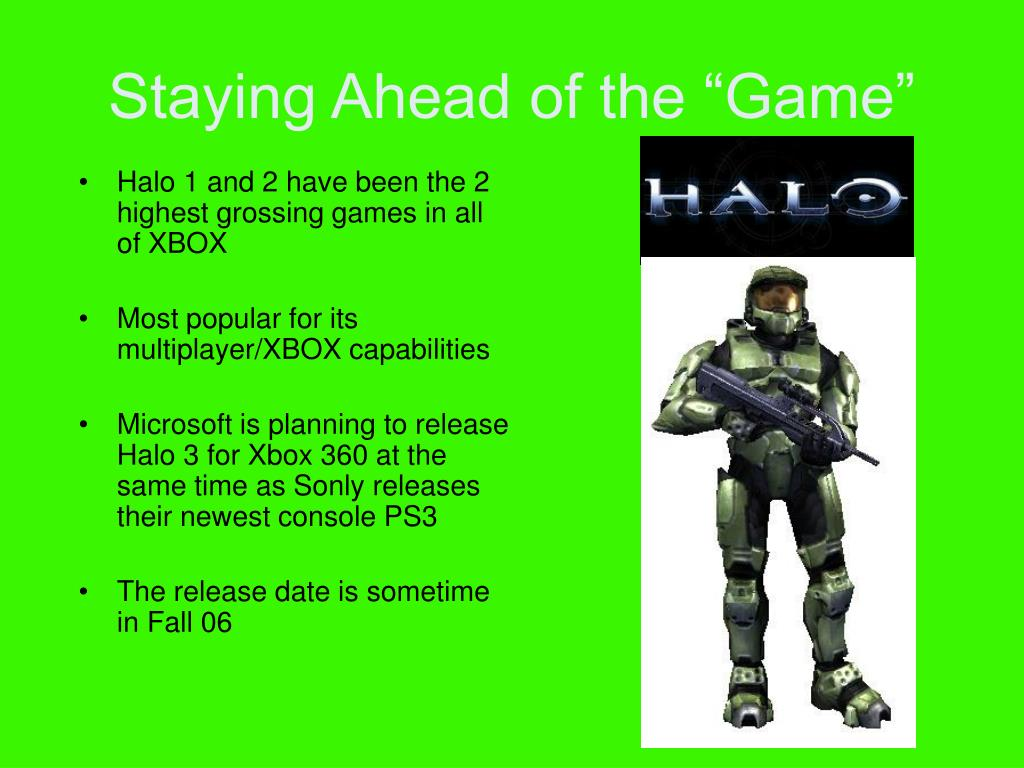 Halo 1 and 2 have been the 2 highest grossing games in all of XBOX