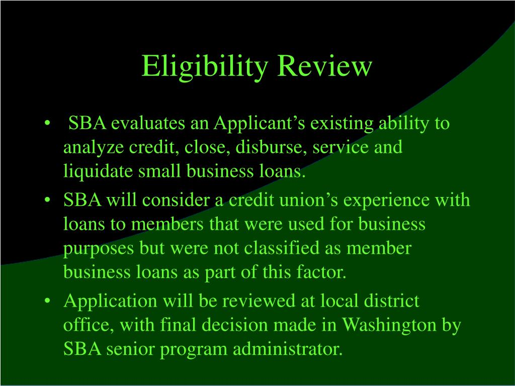 Eligibility Review