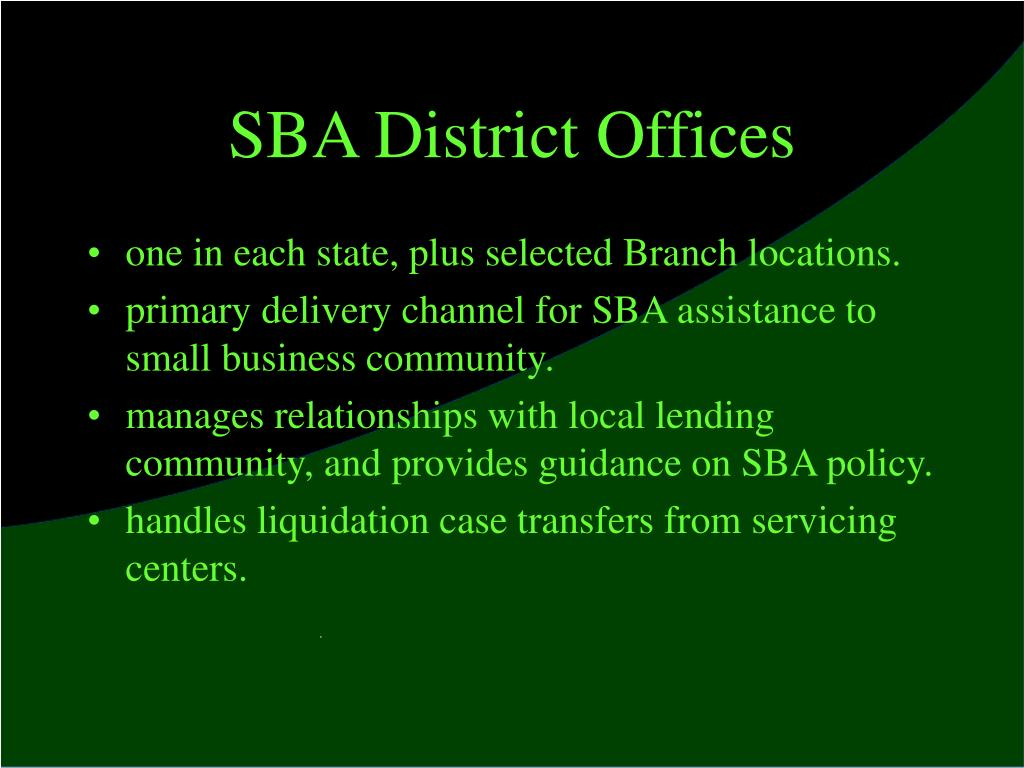 SBA District Offices