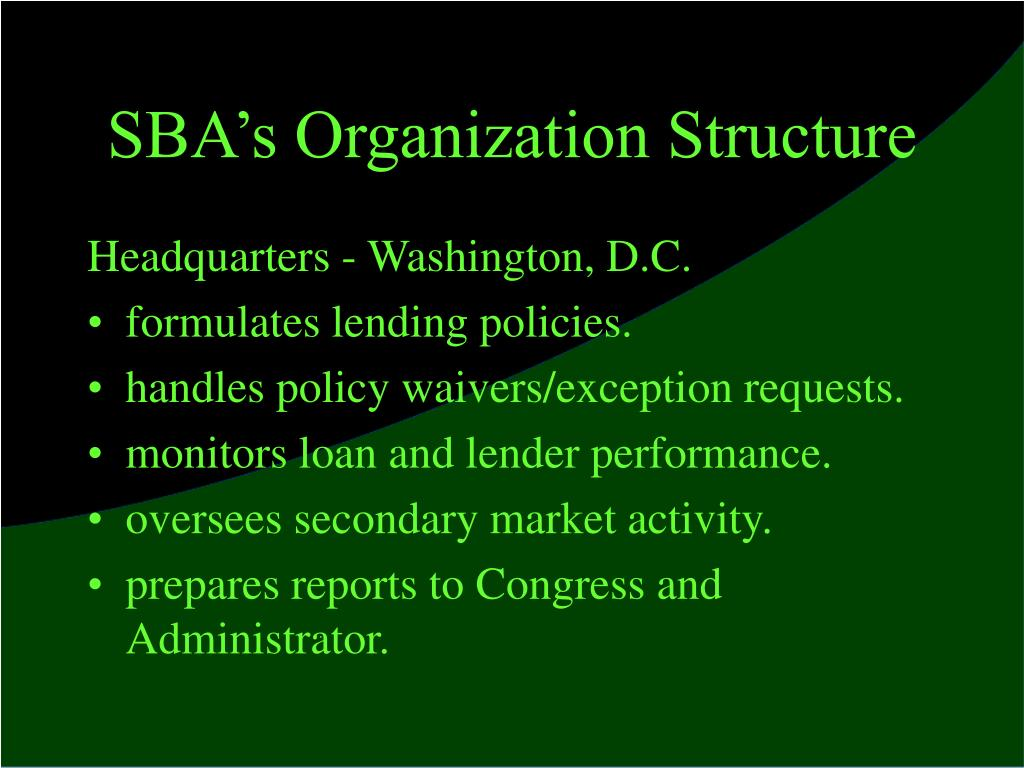 SBA's Organization Structure