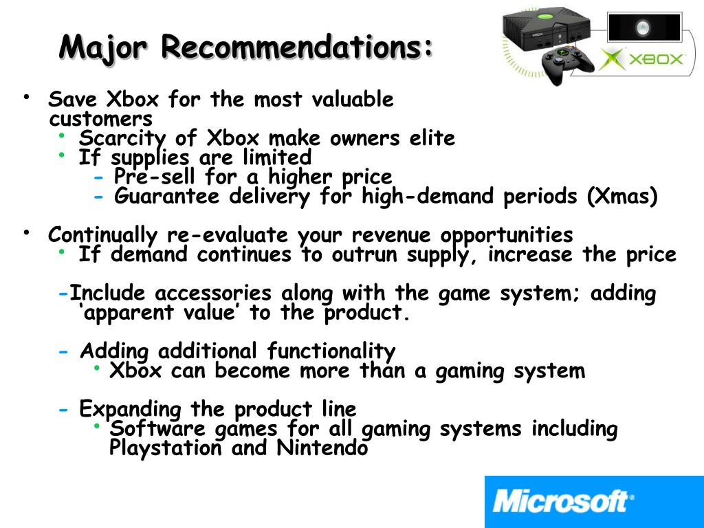 Major Recommendations:
