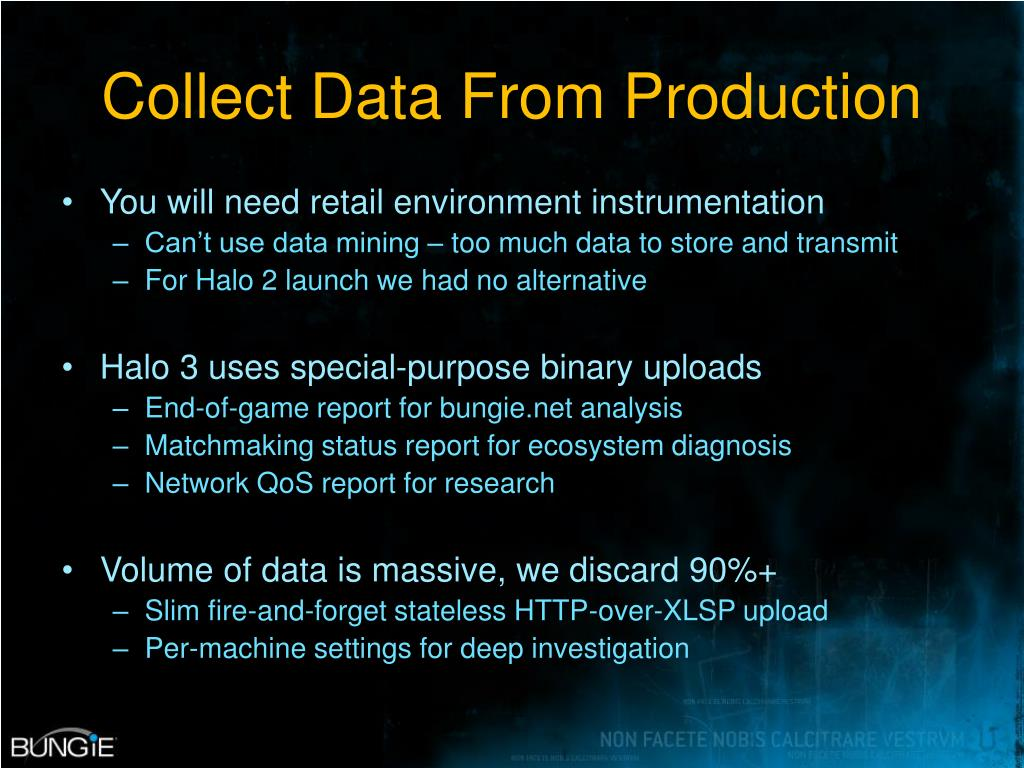 Collect Data From Production
