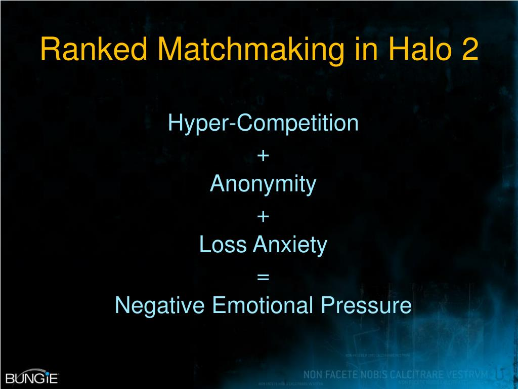Ranked Matchmaking in Halo 2