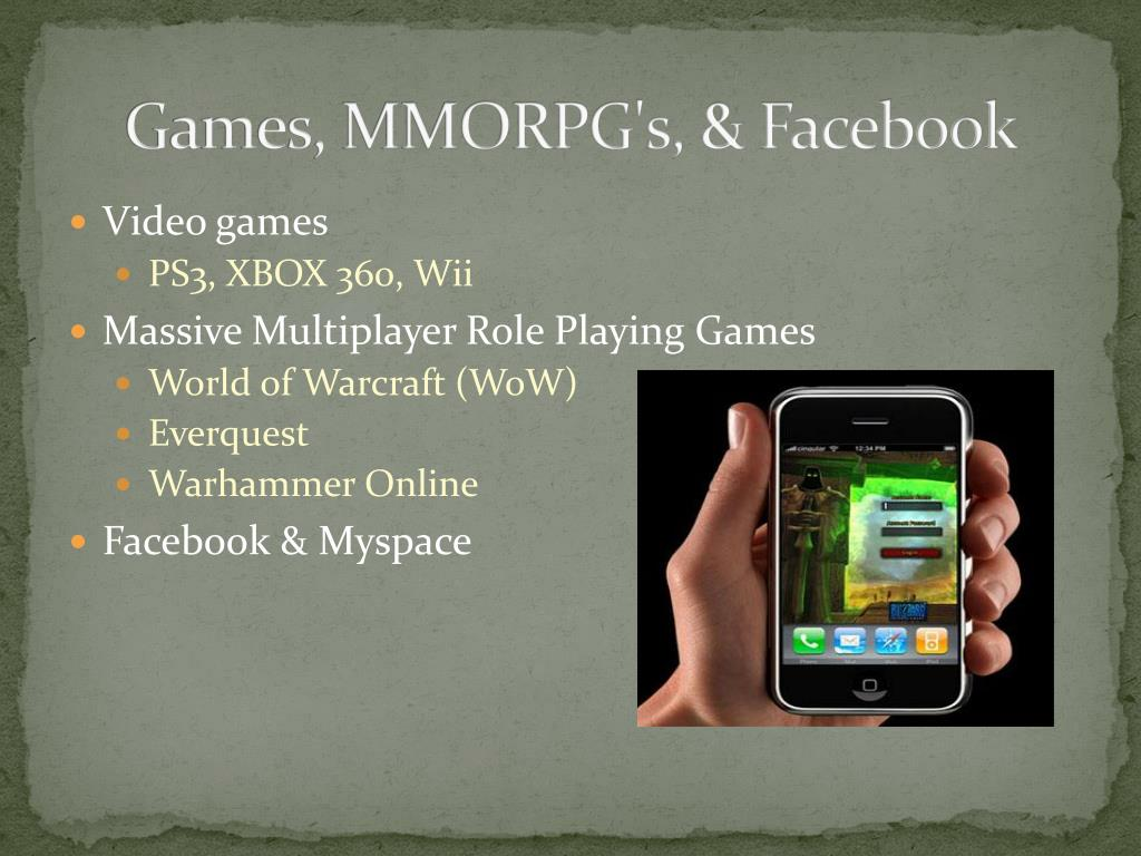 Games, MMORPG's, & Facebook