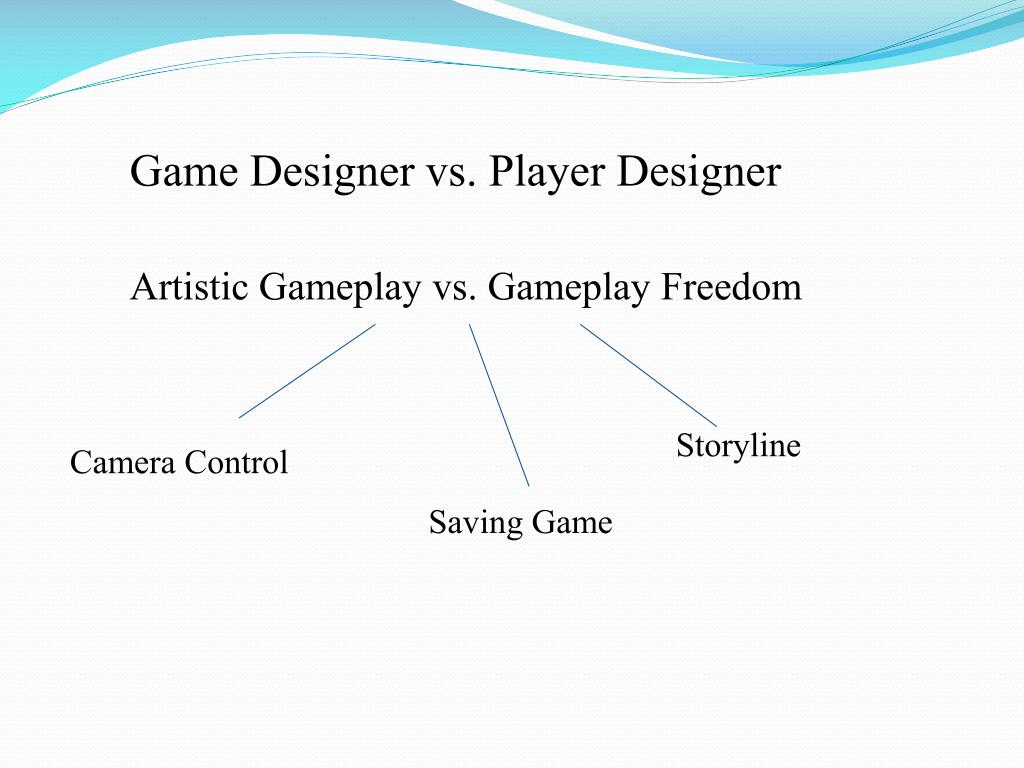 Game Designer vs. Player Designer