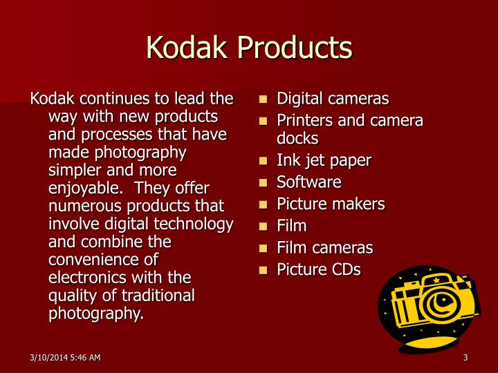 Kodak products