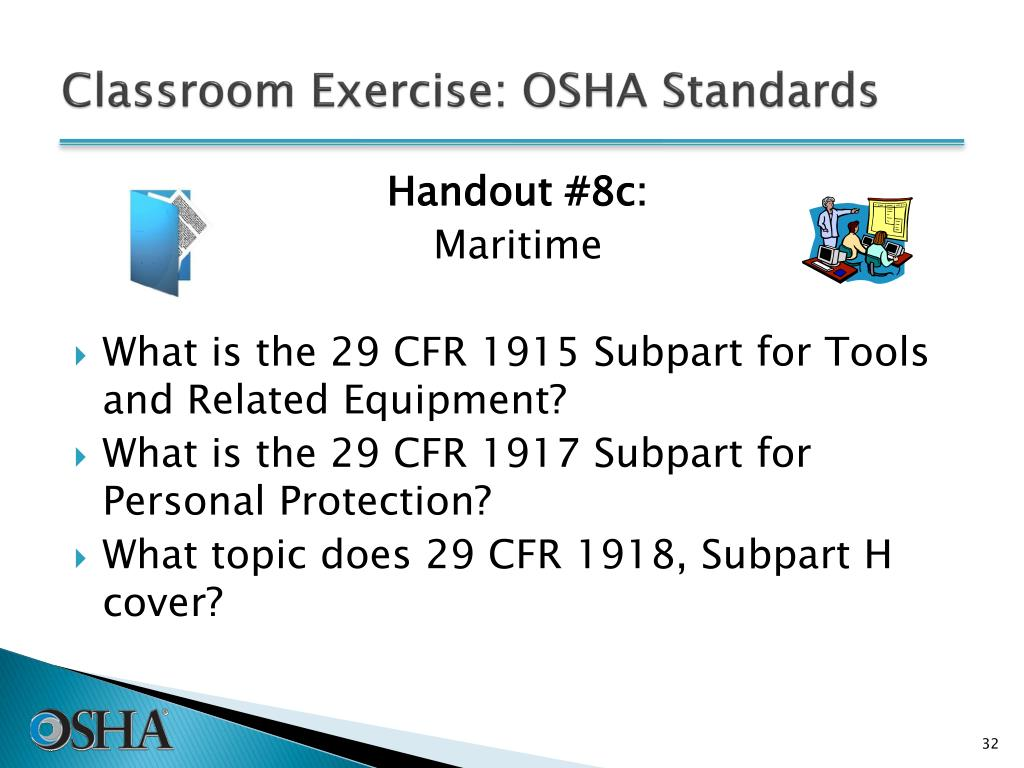 Classroom Exercise: OSHA Standards