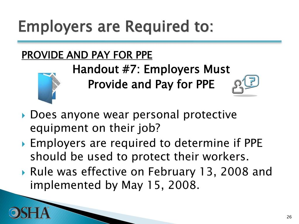 Employers are Required to:
