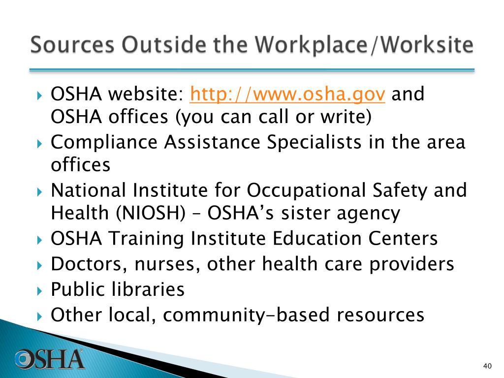 OSHA website: