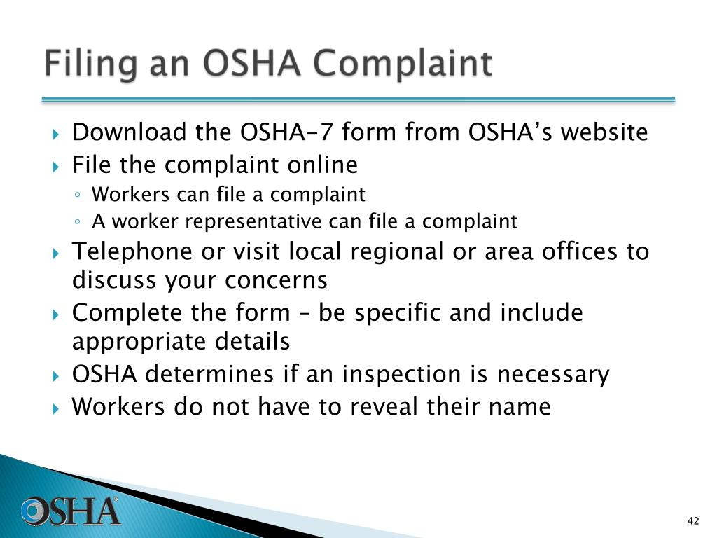 Download the OSHA-7 form from OSHA's website