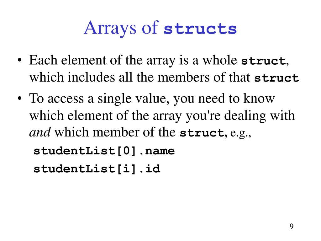 Arrays of
