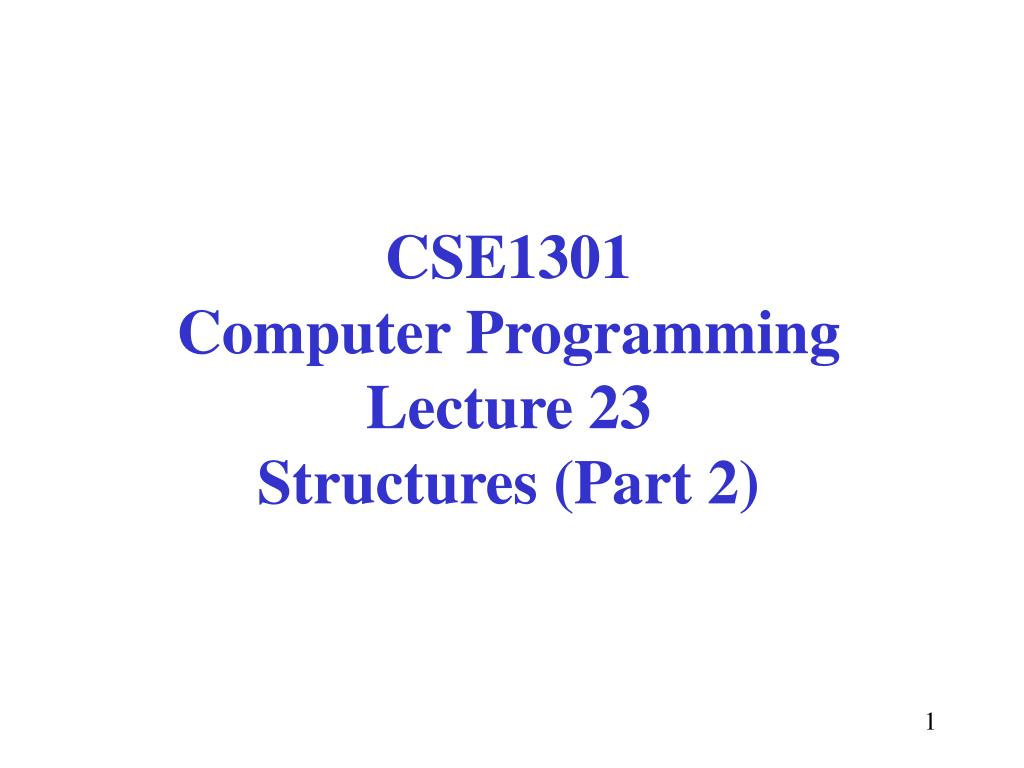 CSE1301