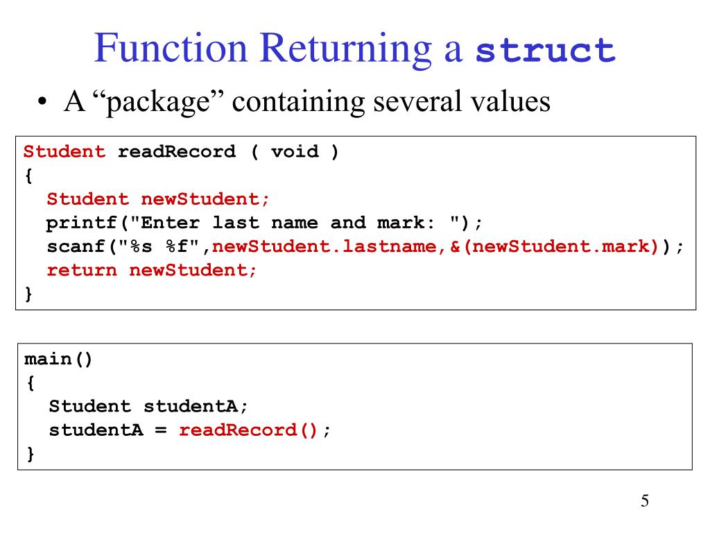 Function Returning a