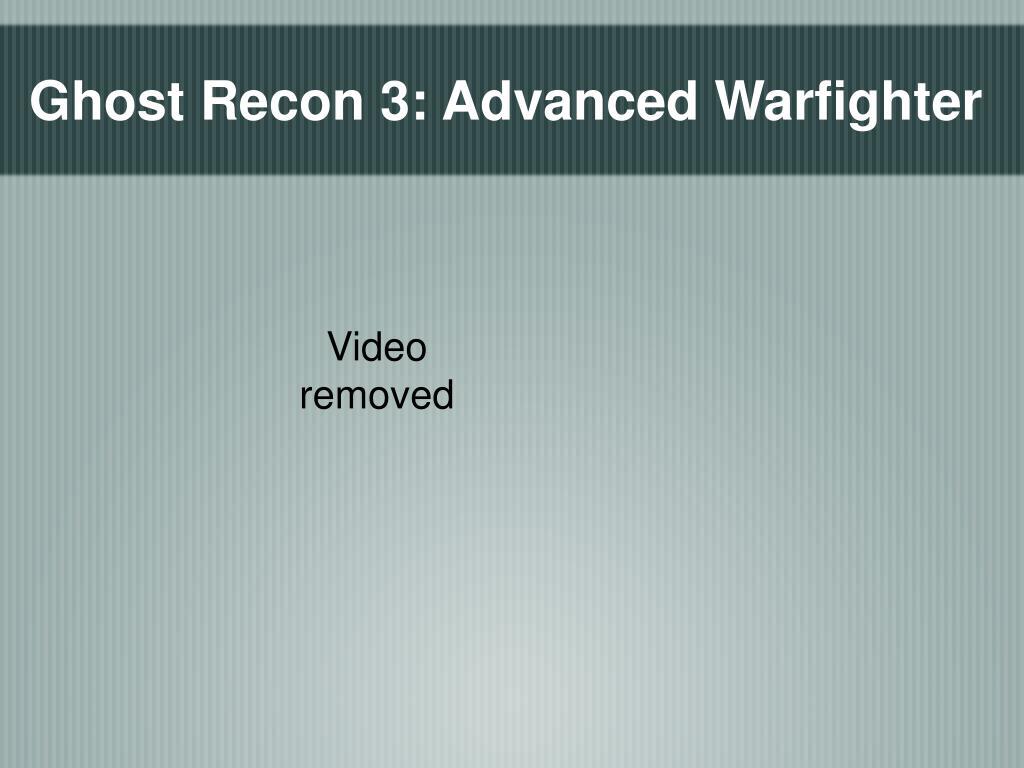 Ghost Recon 3: Advanced Warfighter