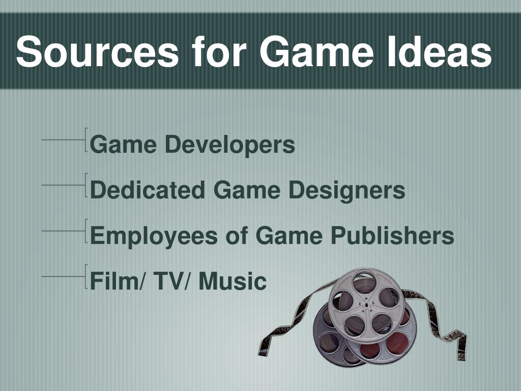 Sources for Game Ideas
