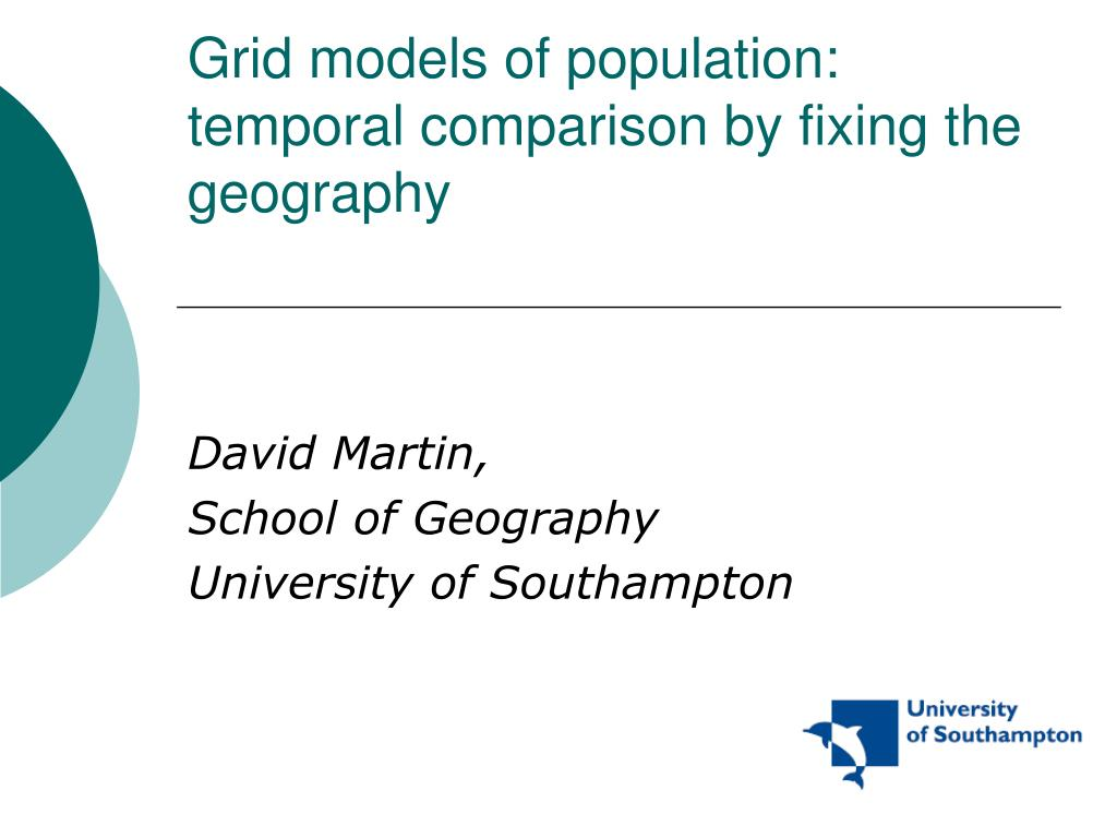 grid models of population temporal comparison by fixing the geography