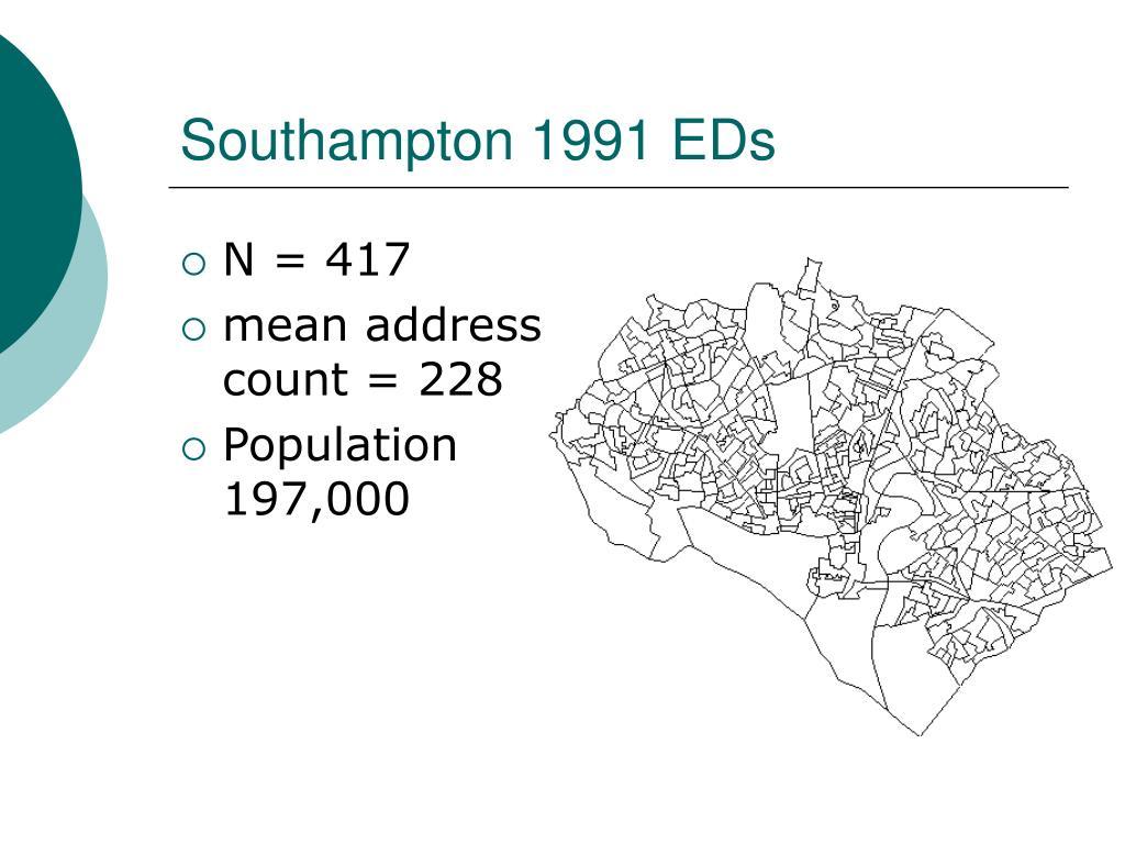 Southampton 1991 EDs