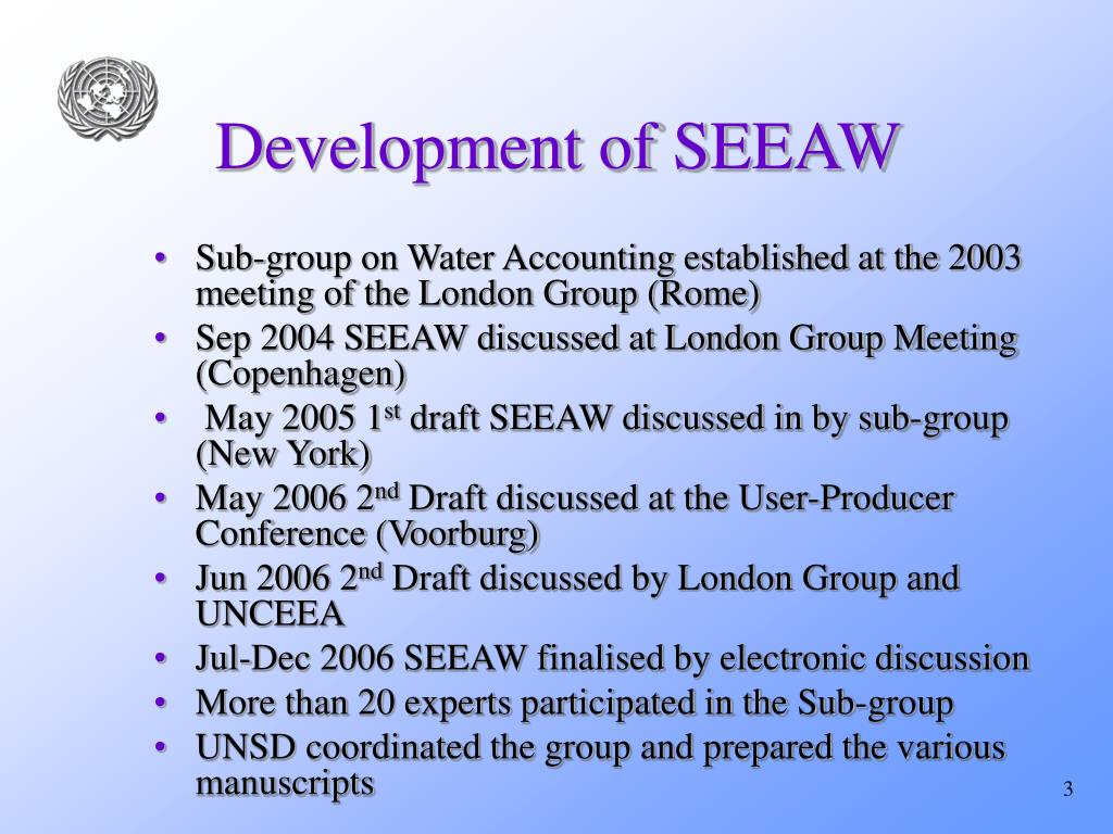 Development of SEEAW