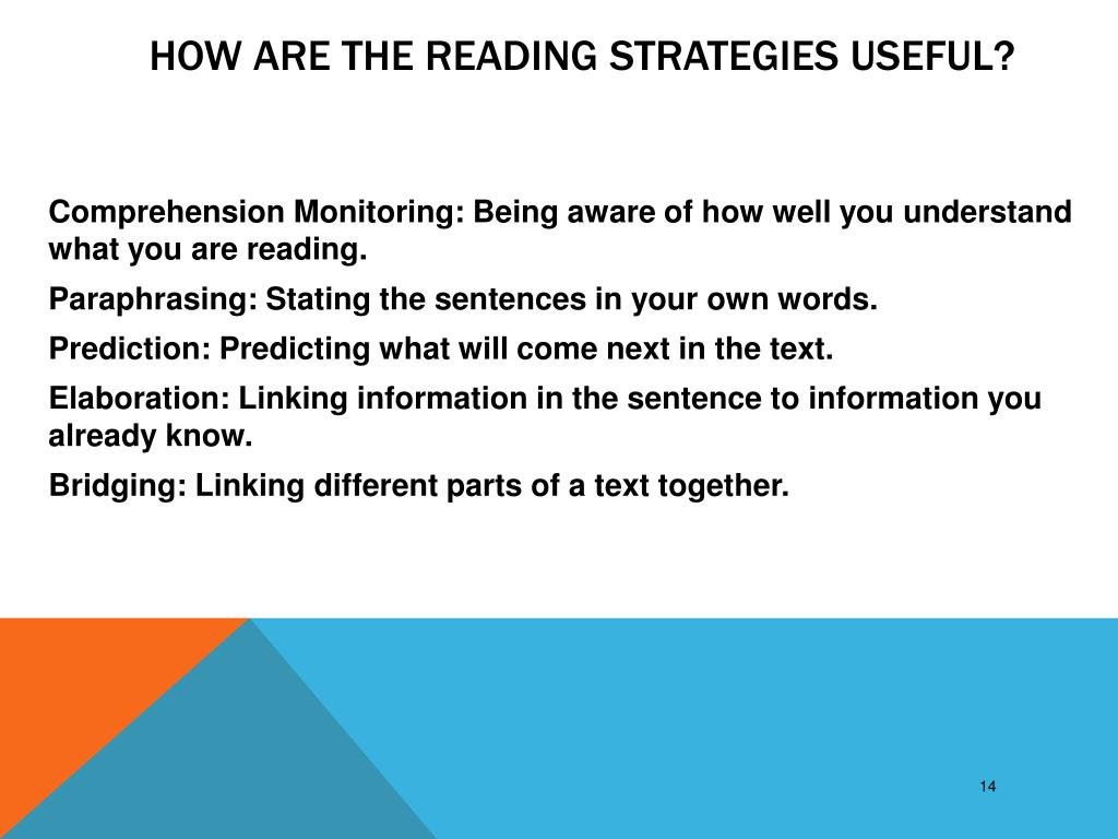 How are the Reading Strategies useful?