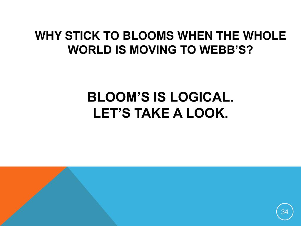 Why stick to Blooms when the whole world is Moving to Webb's?