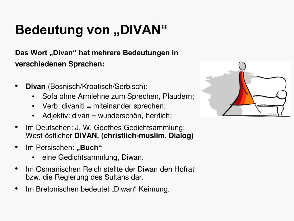 """Bedeutung von """"DIVAN"""""""