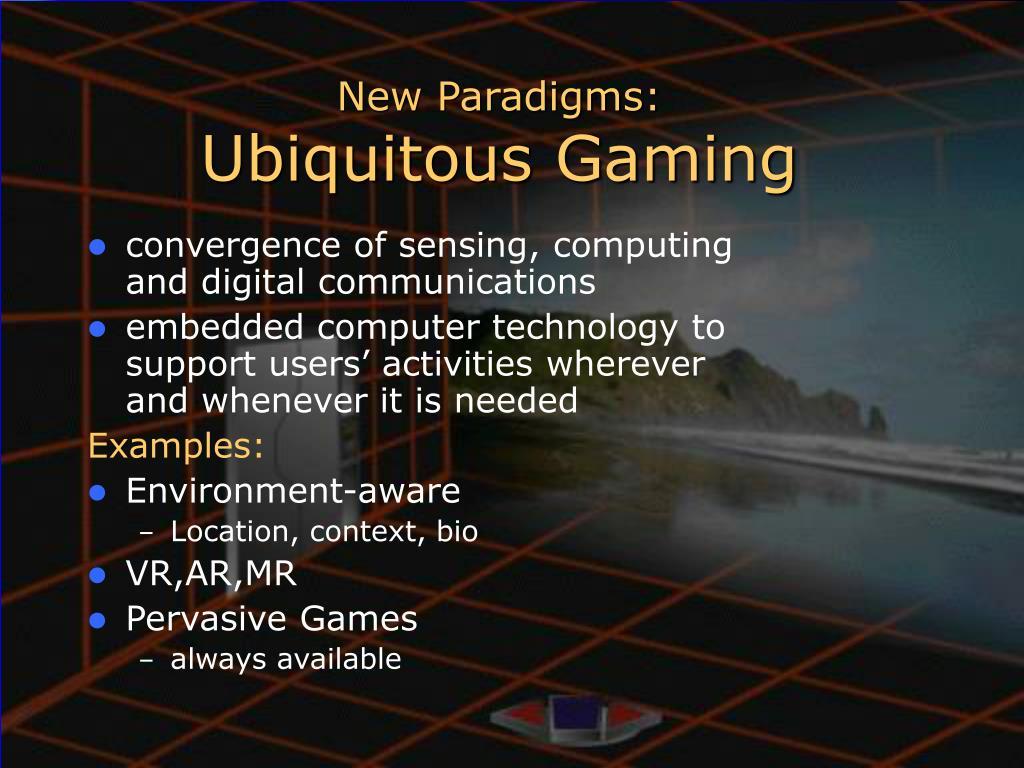 New Paradigms: