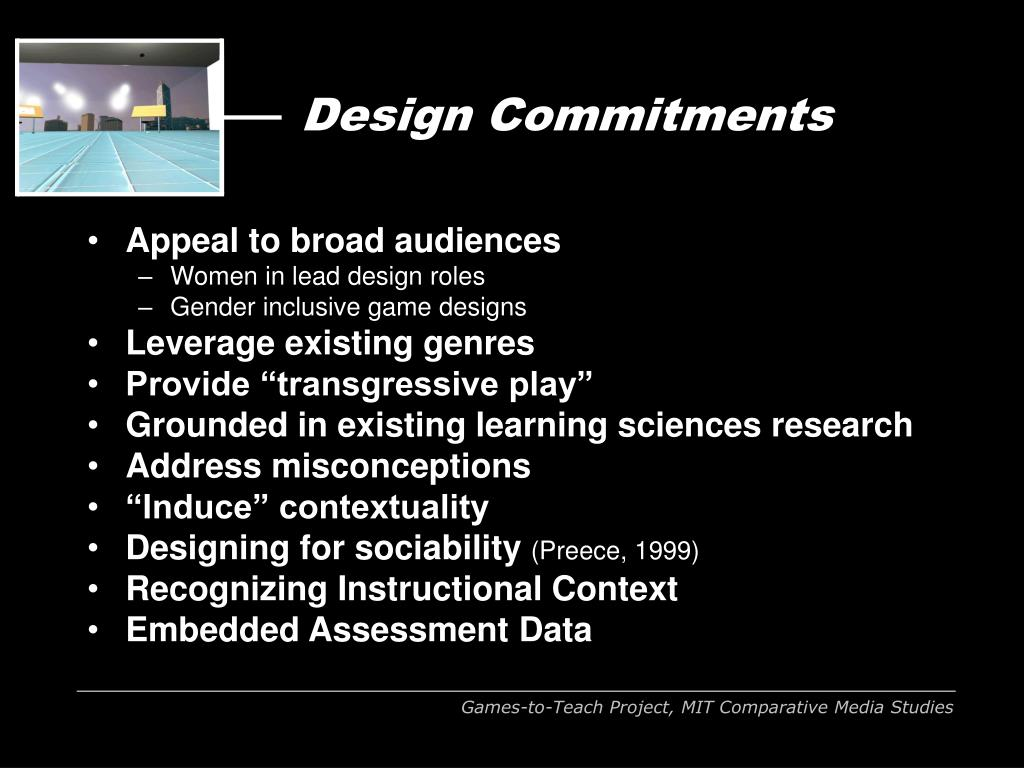 Design Commitments