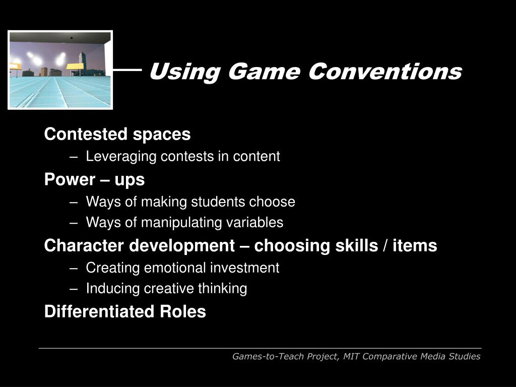 Using Game Conventions