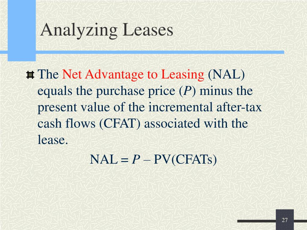 Analyzing Leases
