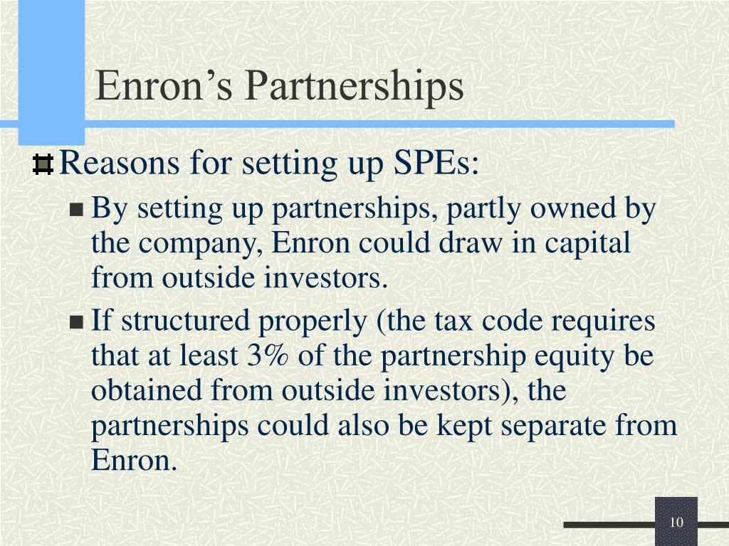 Enron's Partnerships