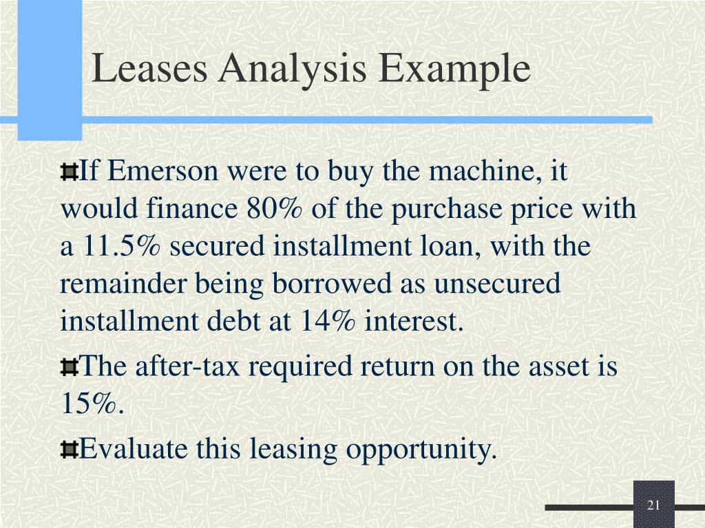 Leases Analysis Example