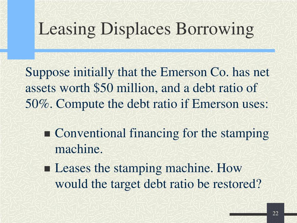 Leasing Displaces Borrowing