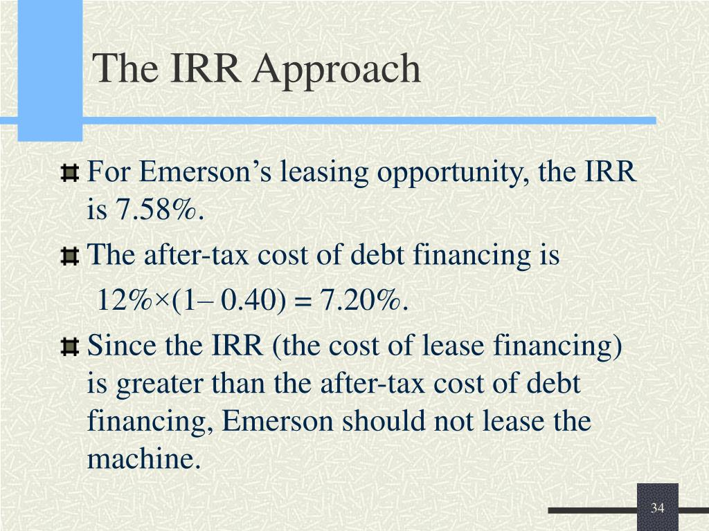 The IRR Approach