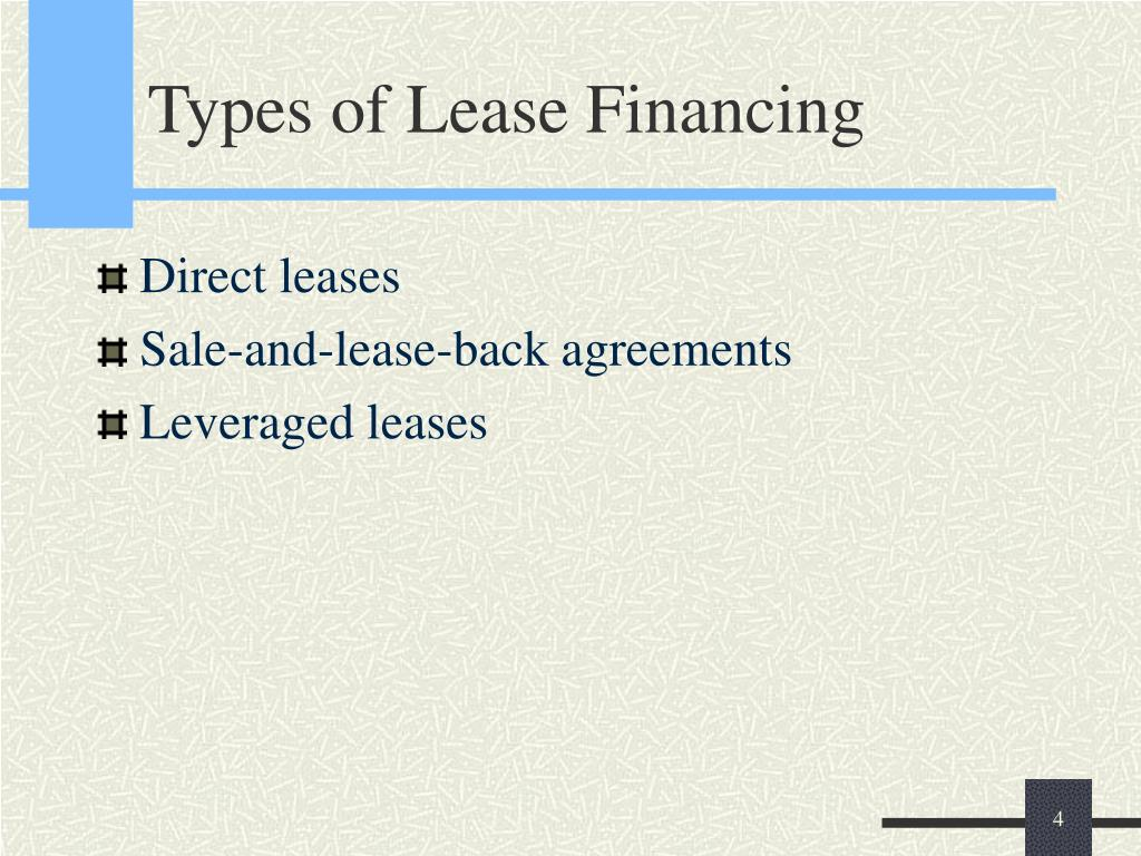 Types of Lease Financing