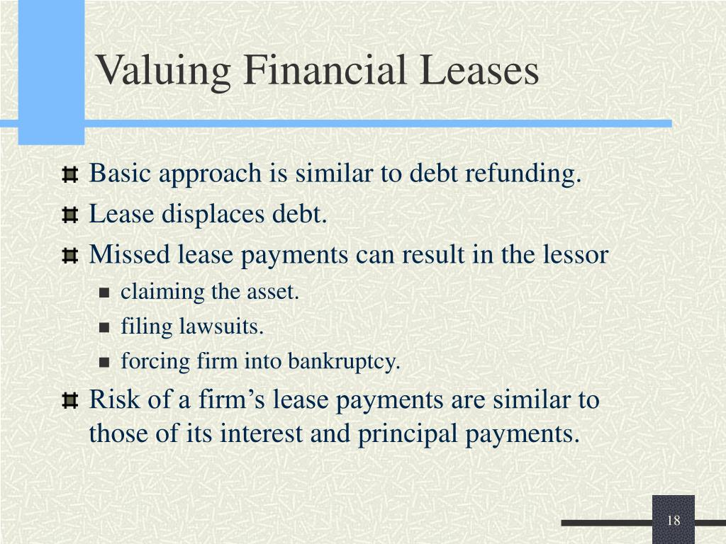 Valuing Financial Leases