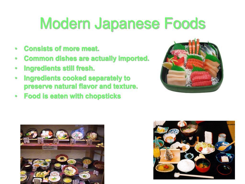 Modern Japanese Foods