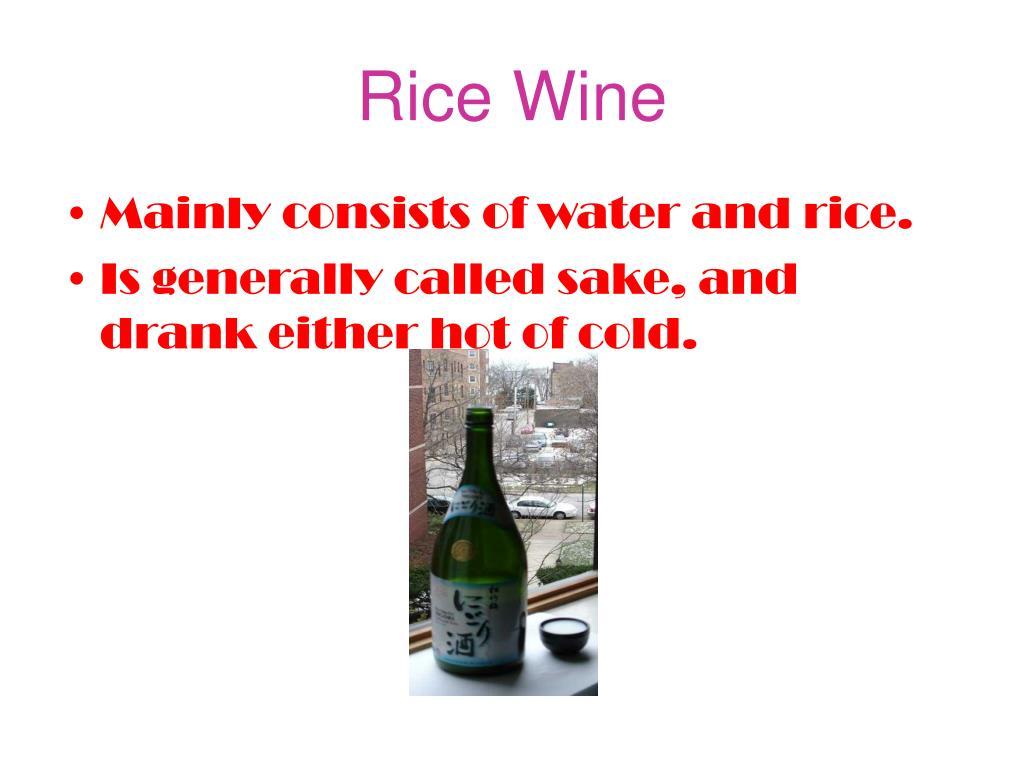 Rice Wine