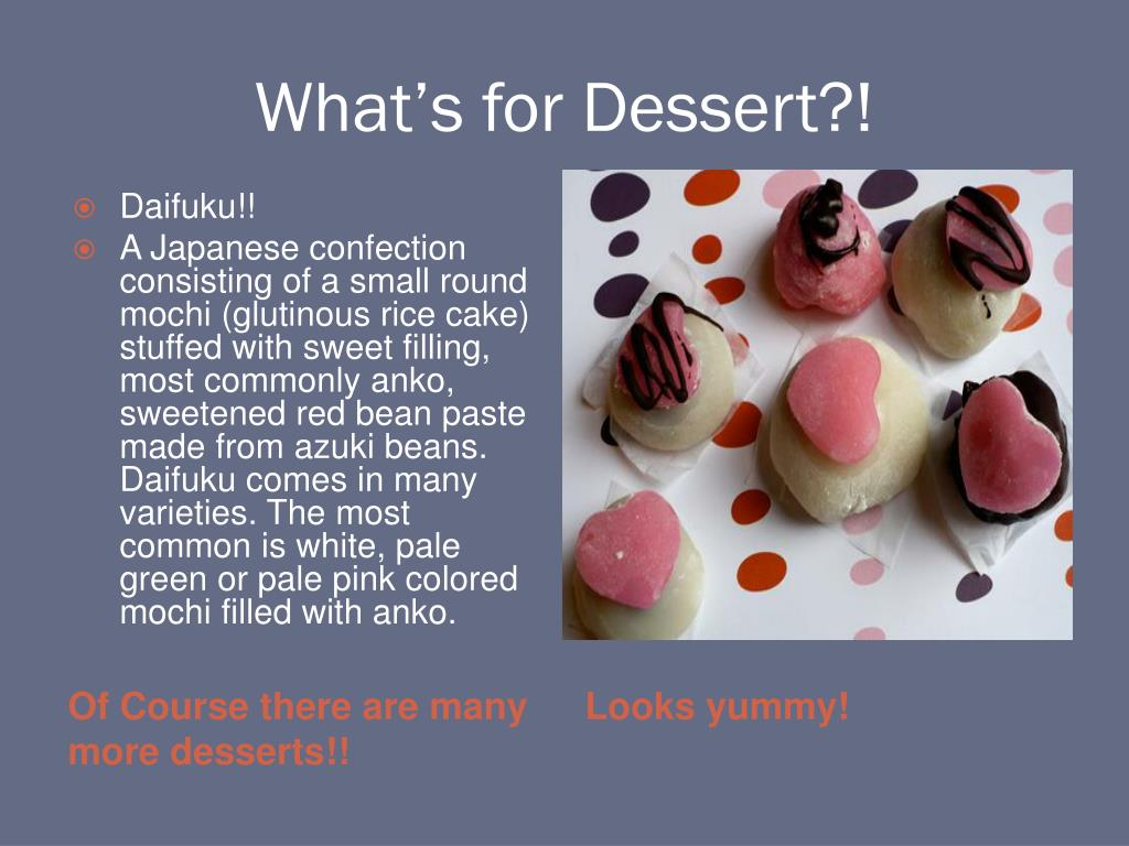 What's for Dessert?!