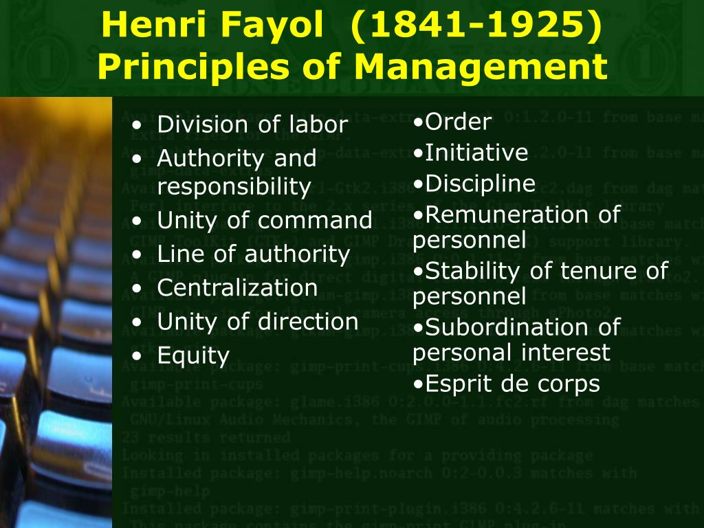 management fayol organization Homepage / general culture / 5 important contributions of henri fayol to the  a management theory focused on defining the structure that an organization needs.